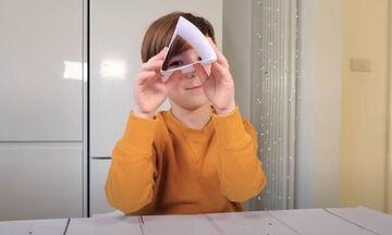 Πειράματα για παιδιά: Μαθαίνουμε για τις ιδιότητες των σχημάτων (vid)
