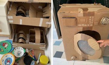 Μαμά δύο παιδιών φτιάχνει εντυπωσιακά παιχνίδια από χαρτόνι - Δείτε τα