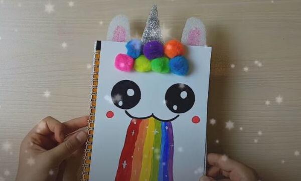 DIY - Φτιάξτε το δικό σας unicorn τετράδιο για το σχολείο