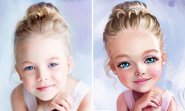Τα εντυπωσιακά illustrations με πορτρέτα παιδιών που αξίζει να δείτε