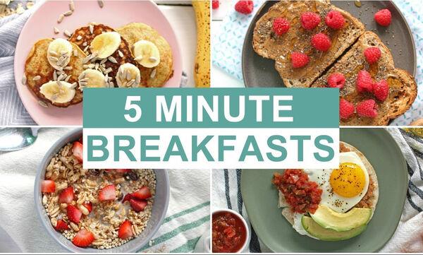 Back to School: Πέντε εύκολες συνταγές για γρήγορο και θρεπτικό πρωινό