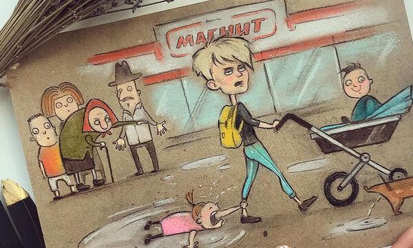 Μαμά δείχνει σε σκίτσα πώς είναι η καθημερινότητά της με δύο παιδιά (pics)