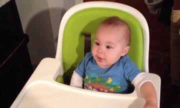 Μωράκι δοκιμάζει σοκολάτα για πρώτη φορά - Δείτε την αντίδρασή του