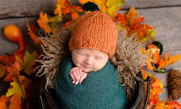 Τα μωρά του φθινοπώρου: Χαριτωμένα μωράκια ποζάρουν στον φωτογραφικό φακό