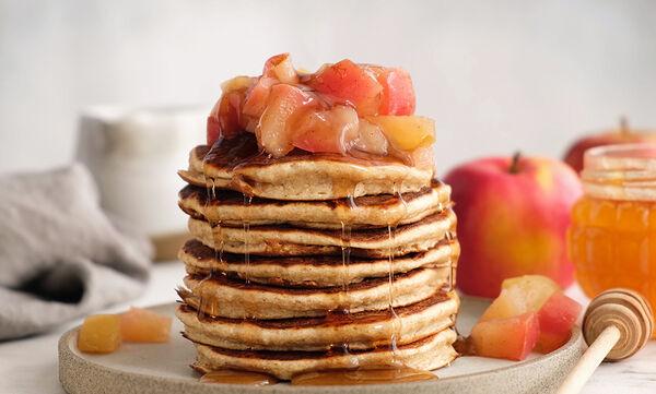 Pancakes με μήλο - Ιδανικά για το πρωινό των παιδιών