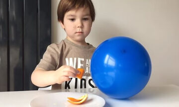 Το πείραμα με το πορτοκάλι και το μπαλόνι που θα ενθουσιάσει τα παιδιά