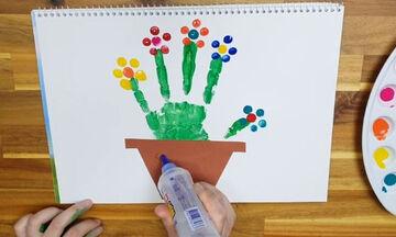 Ζωγραφική για παιδιά: Εντυπωσιακές ζωγραφιές με την παλάμη του χεριού σας