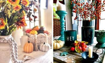 Φθινοπωρινή διακόσμηση σπιτιού: Όμορφες ιδέες για να το ανανεώσετε (pics)