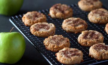 Υγιεινά μπισκότα με μήλο και κανέλα - Ιδανικά και για κολατσιό