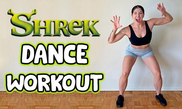 Γυμναστική για μαμάδες με το soundtrack της ταινίας Shrek (vid)