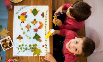 Χειροτεχνίες με φύλλα εμπνευσμένες από το φθινόπωρο