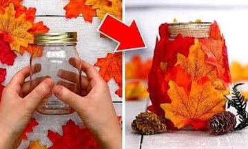 Φθινοπωρινές κατασκευές για παιδιά με φύλλα δέντρων (vid)