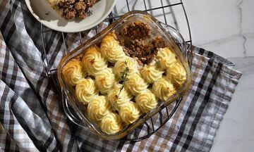 Cottage pie: Φτιάξτε μια διαφορετική πίτα με μοσχαρίσιο κιμά και πουρέ