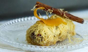 Συνταγή για παραδοσιακό κανταΐφι από τον Άκη Πετρετζίκη