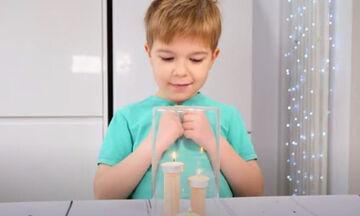 Το πείραμα με τα κεράκια που θα ενθουσιάσει τα παιδιά (vid)