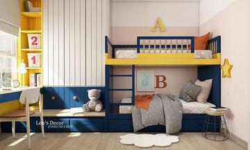 Παιδικά και εφηβικά δωμάτια σε μπλε και κίτρινο χρώμα - Πάρτε ιδέες