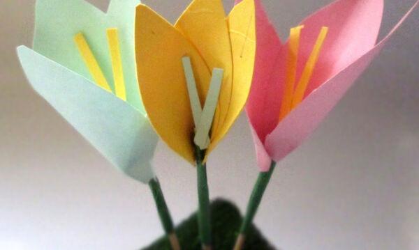 Χειροτεχνίες για παιδιά: Φτιάξτε λουλούδια από οδοντογλυφίδες και χαρτόνι