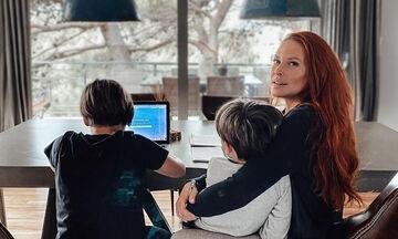 Σίσσυ Χρηστίδου: Στην Αράχοβα με τους γιους της (pics+vid)