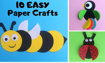 Χειροτεχνίες για νήπια: Φτιάξτε όμορφα ζωάκια από χαρτί (vid)