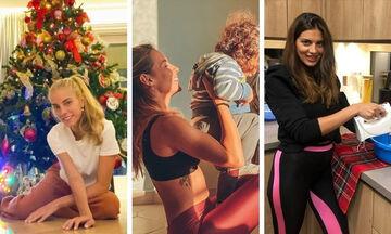 Όσα έκαναν οι διάσημοι Έλληνες γονείς το πρώτο Σαββατοκύριακο καραντίνας