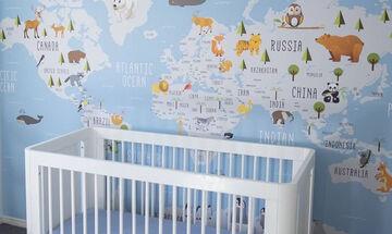 Διακοσμήστε το παιδικό δωμάτιο με χάρτες (vid+pics)