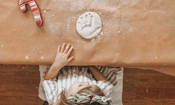 Ζύμη για χριστουγεννιάτικα στολίδια (pics+vid)