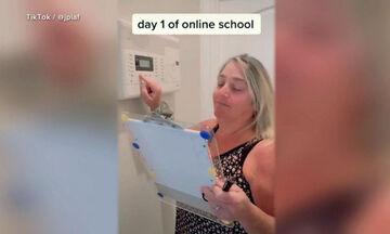 Έτσι ξυπνά μια μαμά τον έφηβο γιο της κάθε μέρα για το διαδικτυακό μάθημα