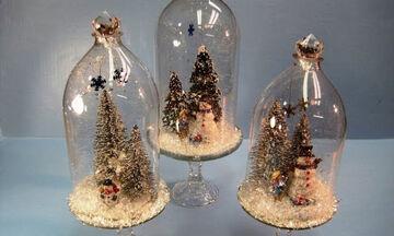Χριστουγεννιάτικα διακοσμητικά με πλαστικά μπουκάλια - Πώς θα τα φτιάξετε