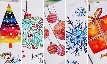 DIY - Χειροποίητες χριστουγεννιάτικες κάρτες που θα κλέψουν τις εντυπώσεις