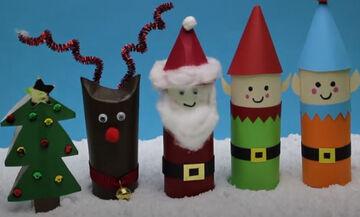 Πέντε χριστουγεννιάτικες κατασκευές με ρολό από το χαρτί υγείας (vid)