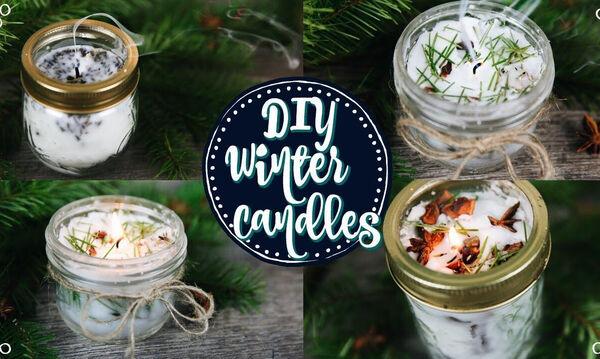 DIY για μαμάδες: Φτιάξτε 4 απίθανα χριστουγεννιάτικα κεριά για το σαλόνι