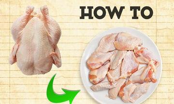 Tips μαγειρικής από τον Άκη: Πώς κόβουμε σε μερίδες το κοτόπουλο;