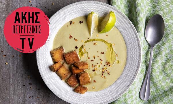 Αντιοξειδωτική σούπα βελουτέ με μπρόκολο από τον Άκη Πετρετζίκη
