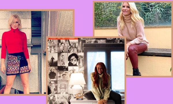 Πώς να συνδυάσεις το πουλόβερ σου: Προτάσεις από τις μαμάδες της showbiz