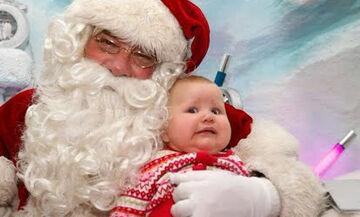 Οι απολαυστικές αντιδράσεις παιδιών όταν βλέπουν τον... Άγιο Βασίλη