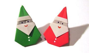 Τρεις κατασκευές origami εμπνευσμένες από τα Χριστούγεννα (vids)