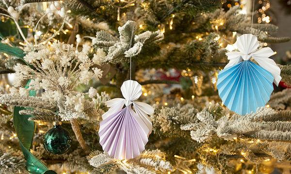 DIY στολίδια για το δέντρο: Φτιάξτε χριστουγεννιάτικα αγγελάκια από χαρτί