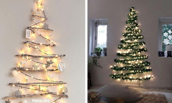 Χριστουγεννιάτικο δέντρο στον τοίχο: Ιδανικό για μικρούς χώρους (pics+vid)