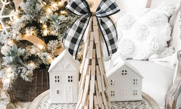 Φτιάξτε υπέροχα χριστουγεννιάτικα στολίδια με μανταλάκια (vid)
