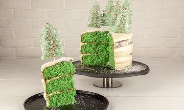 Χριστουγεννιάτικη τούρτα με δεντράκια - Τα μικρά σας θα ξετρελαθούν