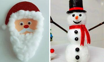 Χριστουγεννιάτικες κατασκευές με βαμβάκι που θα ενθουσιάσουν τα παιδιά