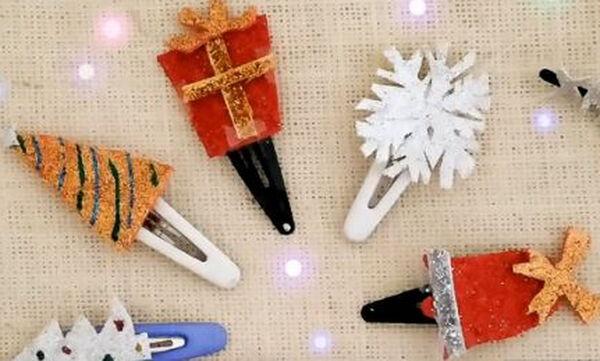 Χριστουγεννιάτικα τσιμπιδάκια για κορίτσια - Δείτε πώς τα τα φτιάξετε