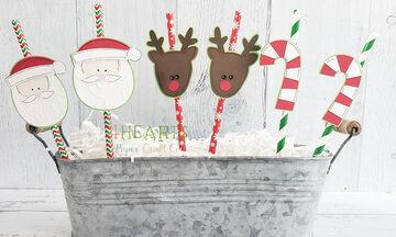 Δημιουργήστε τα δικά σας χριστουγεννιάτικα στολίδια με καλαμάκια