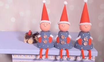 Χειροτεχνίες για παιδιά: Φτιάξτε τα δικά σας Ξωτικά των Χριστουγέννων (vid)