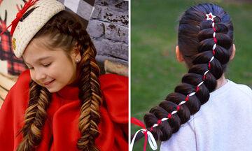 Γιορτινά χτενίσματα με πλεξούδες για κορίτσια - Δείτε τα και πάρτε ιδέες