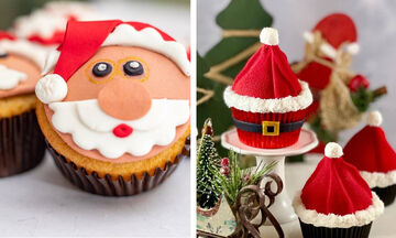 5+1 ιδέες για γιορτινά cupcakes Άγιος Βασίλης (pics)