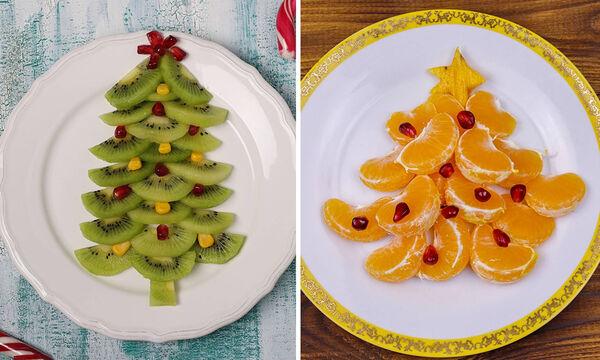 Χριστουγεννιάτικα πιάτα με φρούτα για τα παιδιά - Πάρτε ιδέες