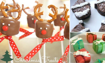 3 χριστουγεννιάτικα γλυκίσματα με marshmallows για να φτιάξετε με τα παιδιά