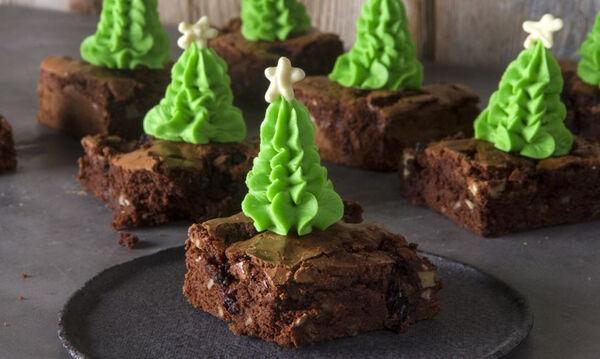 Χριστουγεννιάτικα brownies που θα λατρέψουν τα παιδιά