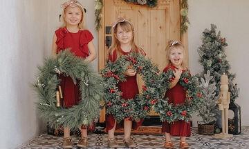 Οι απίθανες χριστουγεννιάτικες φωτογραφίες μιας μαμάς
